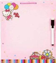 Hello Kitty Dry Eraser Board and Marker. #Disney