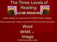 The Three Levels Of Reading by koolteecha, via Slideshare