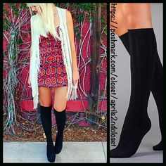 2 Pairs of Black Tall Knee High Boot Socks  NEW WITH TAGS  2 Pairs Included Black Tall Knee High Boot Socks  * Super soft & comfortable fabric * Opaque Knit construction (not sheer), no texture, & ribbed cuffs * Lightweight & stretch-to-fit * One size fits most; Pull on & to the knee style  Fabric: 95% Polyester & 5% spandex; Machine wash Color: Jet Black  No Trades ✅Bundle Discounts✅ Boutique Accessories Hosiery & Socks