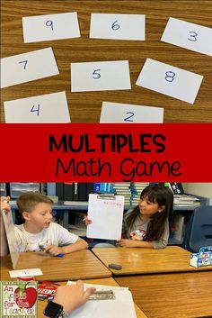 An Apple For The Teacher: Multiples Math Game 4th Grade Writing, Third Grade Math, Fourth Grade, Multiplication Facts, Math Facts, Elementary Math, Upper Elementary, Math Resources, Math Activities