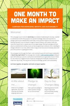 One Month to make an Impact