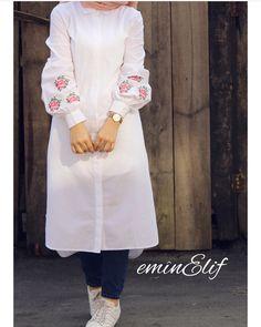 55 Ideas For Style Hijab Kemeja Putih Modest Wear, Modest Dresses, Modest Outfits, Casual Outfits, Casual Wear, Muslim Fashion, Modest Fashion, Trendy Fashion, Fashion Dresses