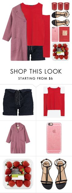 """""""Mwah!"""" by owlmarbles ❤ liked on Polyvore featuring Isabel Marant, Zara, Toast, Casetify and H&M"""