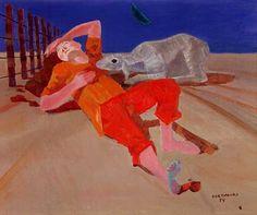 Pastor(1954) - Oil on Canvas - Candido Portinari.
