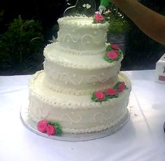 3 Tier vanilla Wedding cake,