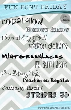 fun font friday, 2nd edition - 10 new font finds