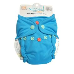 Calypso - Bittees Stay Dry Newborn AIO Diaper - Nuggles Design Canada - This newborn cloth diaper Fits 5-15 lbs+ No cover needed Umbilical Cord Care Butter-soft Stay Dry Lining Dual Leg Gusseting prevent blowouts Improved tunnel design for quick dry time!