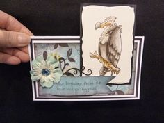 Buzzard & words  sold in a set or separately made by Art Impressions Rubber Stamps, items can be purchased in my ebay Store Pat's Rubber Stamps & Scrapbooks or call me 423-357-4334 with order, or come by 1327 Glenmar Ave. Mt Carmel, TN 37645, Pat's Rubber Stamps & Scrapbook supplies 423-357-4334. We take PayPal. You get free shipping with the phone orders of $30.00 or more