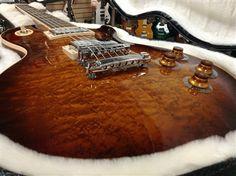 L.A. Music Custom Guitars Gibson Les Paul Standard 2013 Tier A Birdseye Honeyburst LPSBHBCH