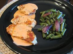 Chicken with Pink Tarragon Cream @ Buttoni's Low Carb Recipes -- This sauce is also great on seared pork chops, steamed cauliflower, and scrambled eggs.