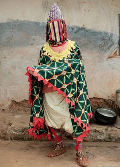 ceremonial manifestation of an egun - a voodoo ancestor spirit. benin.
