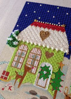 It's not your Grandmother's Needlepoint: It's Snowing at the North Pole!