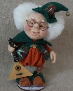 """Felted doll """"Gnome Michael""""."""