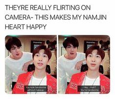 Bts memes - i love namjin 😍 - wattpad Kookie Bts, Kim Namjoon, Bts Bangtan Boy, Seokjin, Jung Hoseok, Bts Jin, Namjin, K Pop, Bts Memes