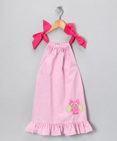 Take a look at this Pink Owl Appliqué Ruffle Dress - Infant, Toddler & Girls  by Blow-Out: Girls' Apparel on #zulily today!