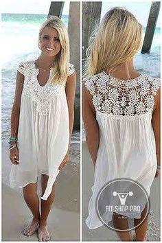 Summer Lace Boho Beach Dress