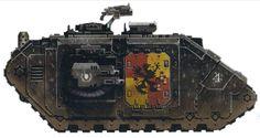 "Land Raider Prometheus, ""Shield of Mancora"" in Codex-approved Night World Battle Livery."