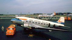 Airlines of America Lake Central Airways, DC3 MIdway Airport