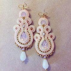 Orecchini soutache / pink soutache earrings di LaviBijoux su Etsy