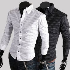 Smeiling Men Long Sleeves Casual Slim Fit Vertical Striped Button Down Dress Shirt