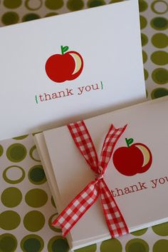 The TomKat Studio | Blog: Back to School: DIY Printable Thank You Cards ~ Perfect for Teachers!