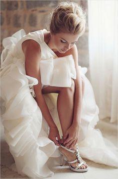 Giuseppe Zanotti heels, vera wang gown