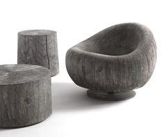 "Cedar wood easy chair ""Maui"" by Terry Dwan"