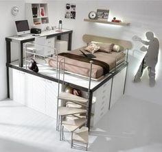 Multifunctionele tienerkamer, ideaal voor kleine ruimtes