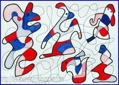 In de stijl van Jean Dubuffet Art Lessons For Kids, Artists For Kids, Art Lessons Elementary, Art For Kids, Drawing Sheet, 3rd Grade Art, Ecole Art, School Art Projects, Middle School Art