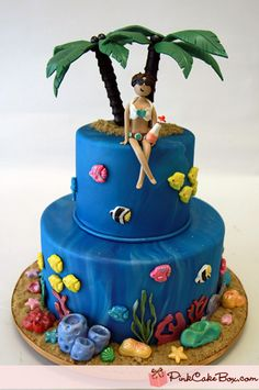 cakes on Pinterest Shark Cake, Disney Princess Cakes and ...