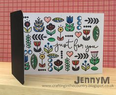 Crafting in the Country: Floral Patterns. Hero Arts/Lia Griffith set called Just for You