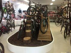In a best world you could buy any bike you wanted at a price you might pay for, however in the real life mountain biking costs differ extremely. Bike Shop, Bicycle Store, Boutique Velo, Recycled Bike Parts, Shoe Room, Kids Bike, Cool Bicycles, Retail Design, Store Design