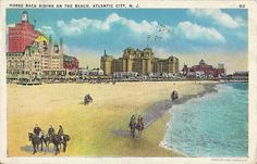 Beach Riding At Atlantic City  Vintage 1930s by AllHorseVintage   Still there in 1960s.