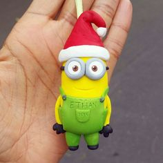Hey, I found this really awesome Etsy listing at https://www.etsy.com/listing/214859434/minion-ornament-minion-figurine-polymer