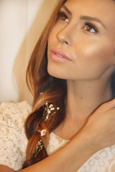 Nude/pink lip and highlight-stephy b