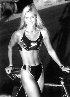 "Just before Hawaii Ironman World Championship 1998. Yes, back then I raced in a bikini on a titanium bike with 26"" wheels!"