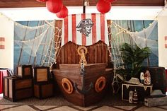 Liam's Pirate Adventure Themed Party – Stage Decor