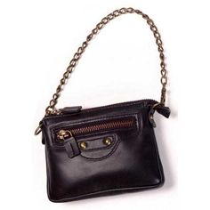 "Winn ""Stepping Out"" Sheepskin Napa Leather Mini Purse  This stylish purse features a removable brass chain strap."