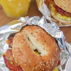 Freezer Bagel Breakfast Sandwiches - The Diary of a Real Housewife