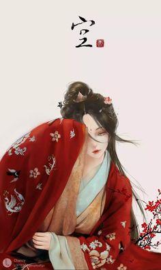 Anime Art Girl, Manga Girl, Manga Anime, Chinese Picture, Chinese Drawings, Beautiful Fantasy Art, Ancient Beauty, China Art, Ancient China