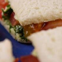 tomato tea sandwich!