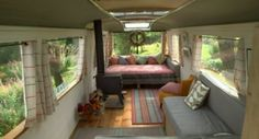 Buses summer and cabin on pinterest - Small spaces george clarke pict ...