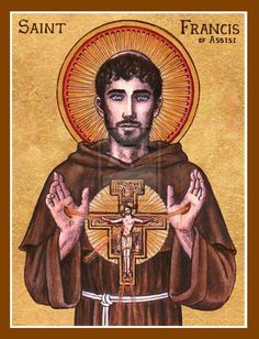 St. Francis of Assisi icon by Theophilia on deviantART. Great to see a Catholic presence on DeviantART. Check out her entire Saints' gallery-- she's even done some intricate pumpkin carvings of the Theotokos and the Sacred Heart of Jesus.
