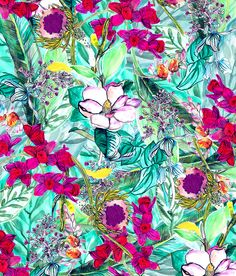 Textile design for swimwear available through Longina Phillips Designs. Jesse Chick