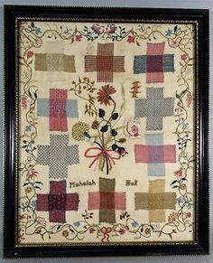 amazing-antique-embriodery-crewel-needlework-sampler-intricate-very-fine-work