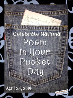 Poem in Your Pocket Day is just one way to celebrate National Poetry Month each April!