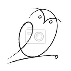 owl line drawing - Google Search