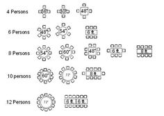 banquet seating chart template | Banquet Table Size Seating Pictures