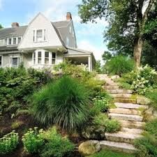 Amazing and Unique Ideas Can Change Your Life: Backyard Garden Beds Cinder Blocks large backyard garden walkways.Modern Backyard Garden Planter Boxes small backyard garden how to build.Backyard Garden On A Budget Cinder Blocks. Large Backyard Landscaping, Sloped Backyard, Backyard Garden Landscape, Sloped Garden, Small Backyard Gardens, Landscaping With Rocks, Landscaping Ideas, Hill Landscaping, Rustic Backyard