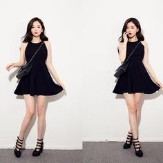 Halter A-Line Mini Dress from #YesStyle <3 chuu YesStyle.com